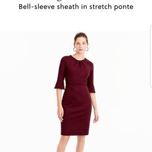 J. Crew Dresses - Nwot j crew bell sleeve sheath dress